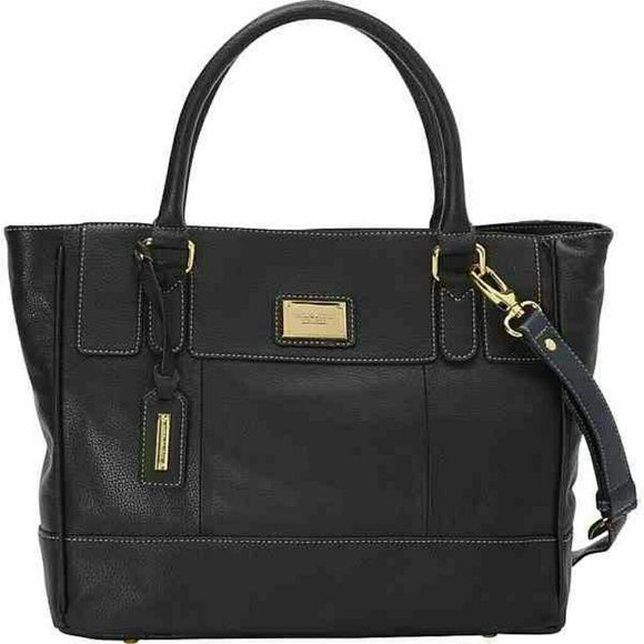 "BRAND NEW Tignanello handbag Black leather 12"" W x 10 1/2"" H x 4 1/2 D Tignanello Bags"