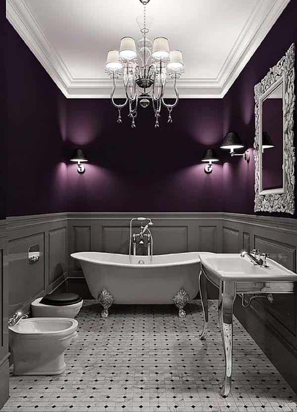 Decorar Baños Oscuros:Más de 1000 ideas sobre Baños De Color Gris Oscuro en Pinterest