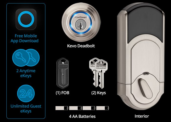 $220 - Kwikset Kevo Bluetooth-enabled deadbolt lock. Must! (4 AA batteries will probably last about a year.)