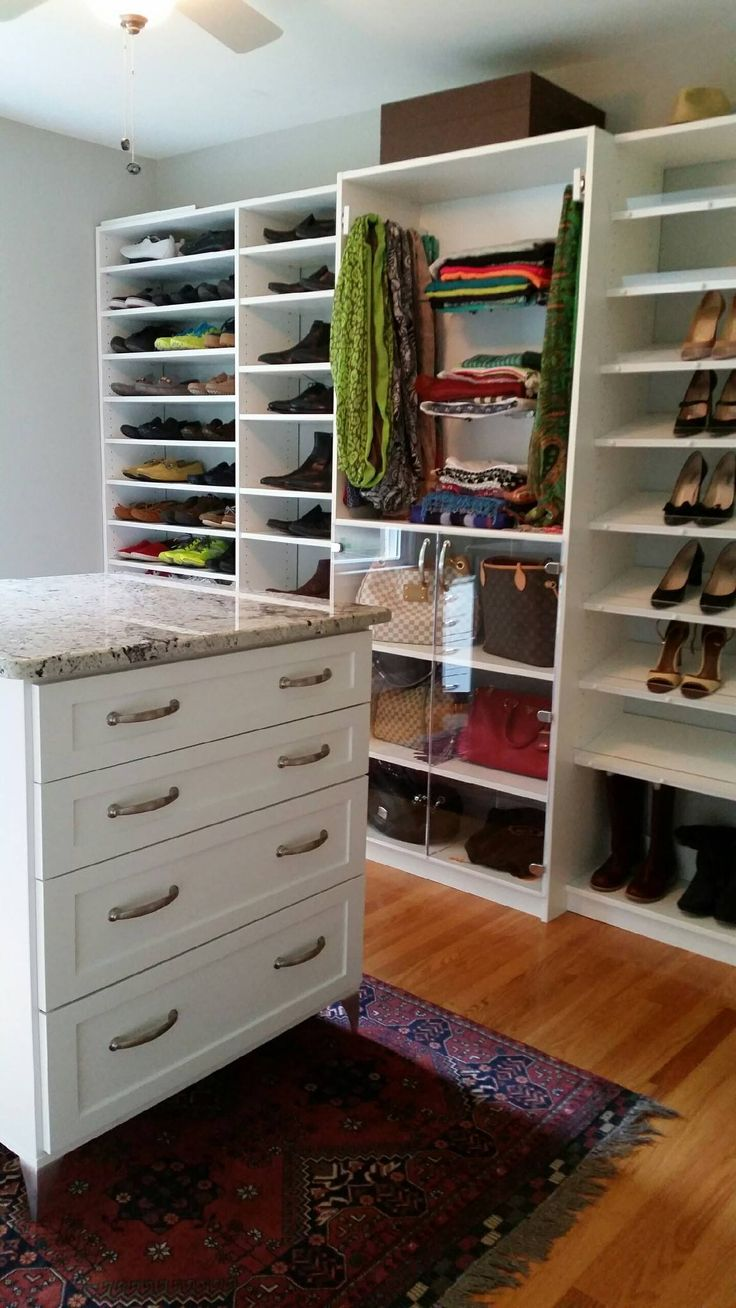 This Accessory Wall Has Storage For It All, From Slanted Shoe Shelves U0026  Sliding Racks