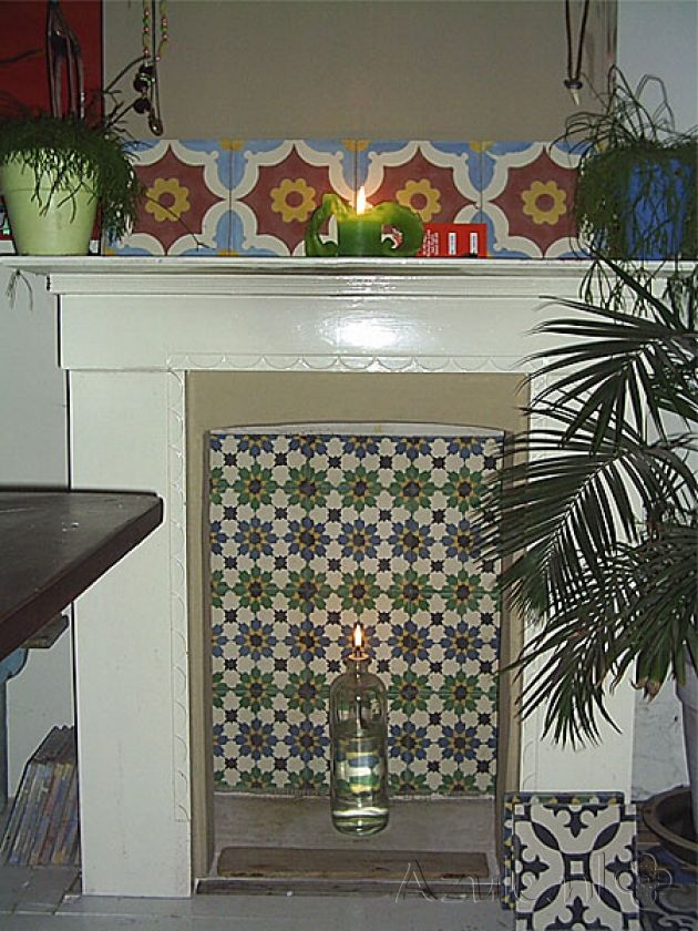 Cement tiles Living Room - Project van Designtegels.nl