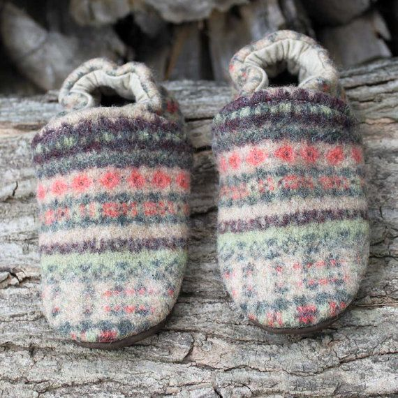 Multiple ways to upcycle a sweater: slippers, throw pillow covers, kid dresses, mittens, etc