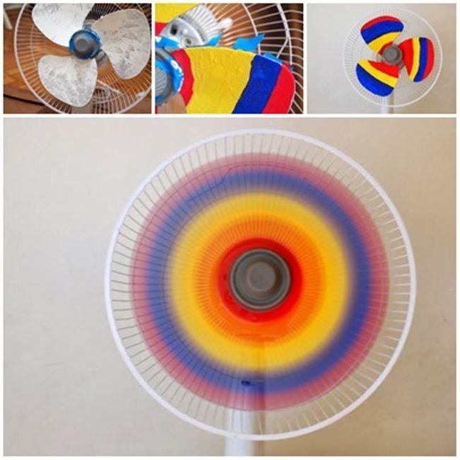 Try this Rainbow Fan in summer ? COOL !  Directions here--> http://wonderfuldiy.com/wonderful-diy-cool-rainbow-fan/