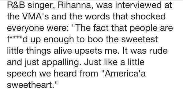 Rihanna… she said little things hehehehehehehehe … sorry I had to!!!! And props to you Rihanna