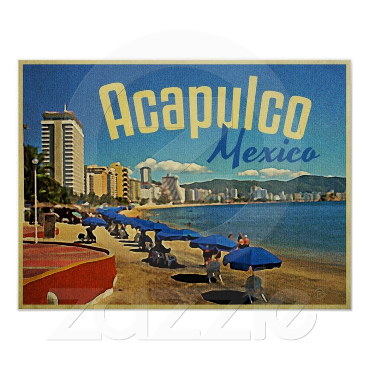 Acapulco Mexico Vintage Travel Poster from Zazzle.com