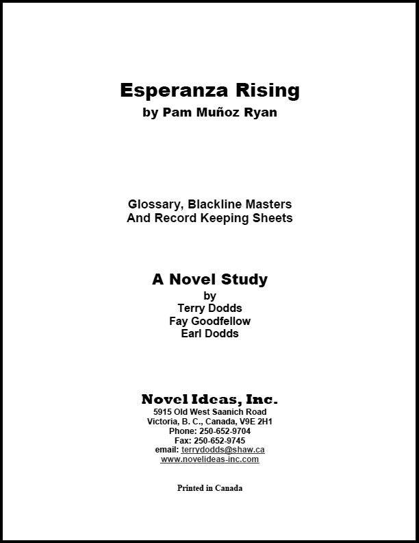 2050.12-BLMER Esperanza Rising (by Pam Munoz Ryan) Blackline Masters*