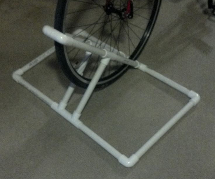 For my apartment I needed a rack to keep my bike upright and off the walls. Nothing can be permanent in my apartment so I built a portable rack from P...