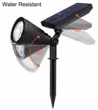 11 best top 10 best solar spot lights reviews in 2018 images on innogear upgraded solar lights 2 in 1 waterproof outdoor landscape lighting spotlight workwithnaturefo