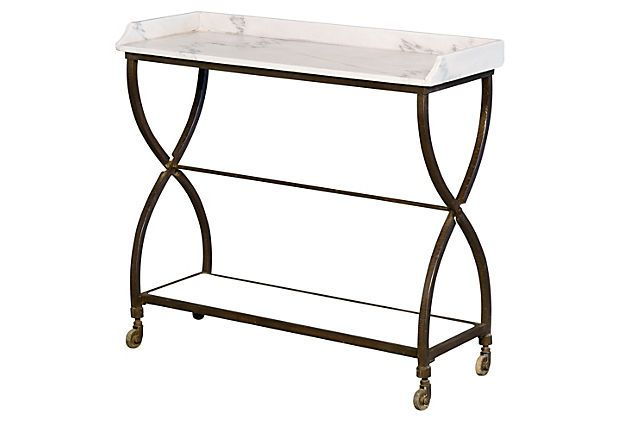Leo Marble Bar Cart On Onekingslane Com Marble Shelf