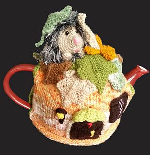 Hedgehog Tea Cosy. pattern can be found at https://www.etsy.com/listing/242012763/hedgehog-in-autumntea-cosy?ref=shop_home_active_19