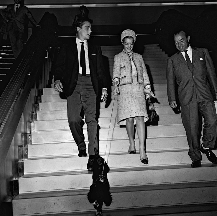 With Romy and Rocco at Orly, 1958.