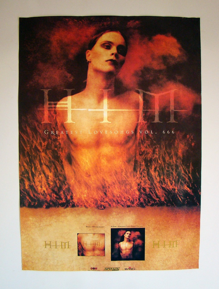HIM - Greatest Lovesongs Vol. 666 - German OFFICIAL Promo Poster 1998