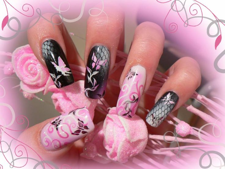 Airbrush nails (ideas, tips and designs)