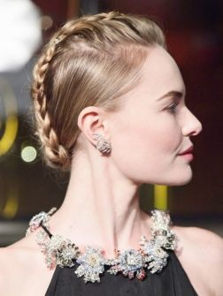 De heetste hair-do van het moment: Kate Bosworth en haar faux-hawk.