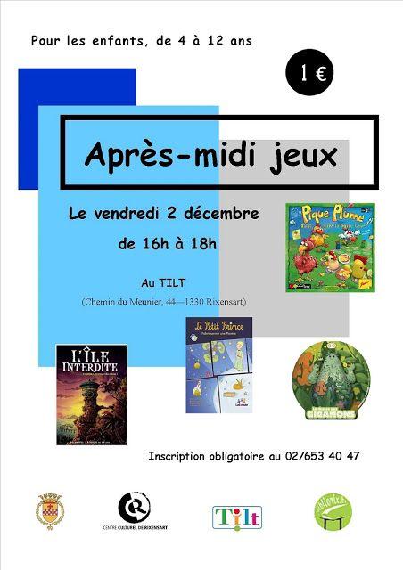 """Escapages: Après-midi jeux pour les enfants au """"Tilt"""" avec les bibliothèques publiques de Rixensart"""