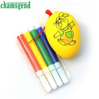 Water Color Pen & Egg Kids DIY Painting Color Egg Toy Easter Egg Education Toys safe non-toxic water M3092  Price: 1.54 USD