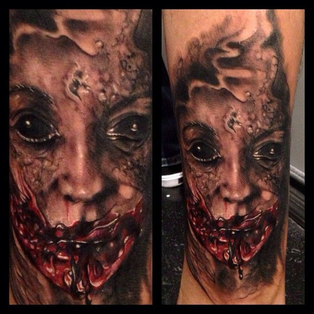 100 horror tattoos best tattoo ideas 144 best zombie tattoos images on pinterest zombie. Black Bedroom Furniture Sets. Home Design Ideas