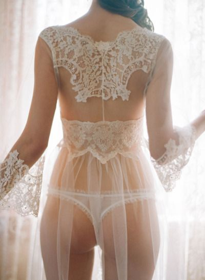 lovely lace ivory lingerie.