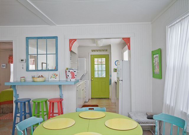Tybee Island, GA United States - The Shrimp | Mermaid Cottages, LLC: Sands, Dining Area, Cottages Kitchens, Beaches House, Islands Beaches, Color Dining, Mermaids Cottages, Beaches Decor, Beaches Cottages