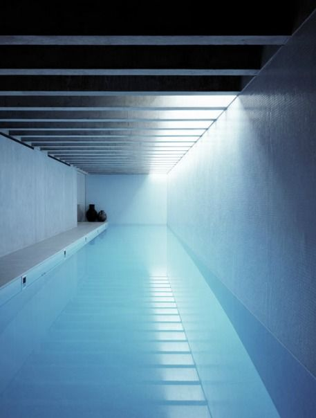 Indoor pool by Keith Williams Architects.