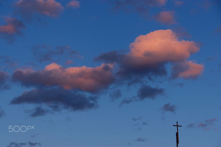 Cloud tonight with the cross - null