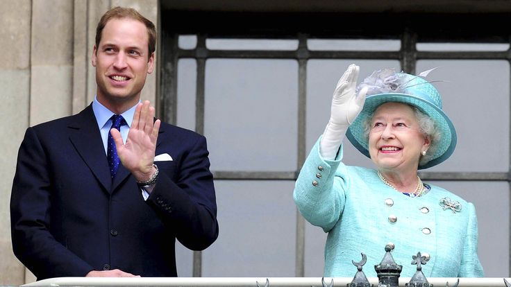 See royals' new look! Prince William and Queen pose for striking photos