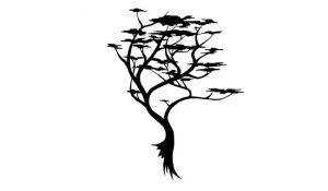Small Tree Tribal Pattern Tattoo