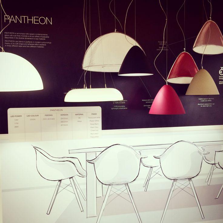 Pantheon pendant lamp family from our italian partner Targetti. #lighting #euroluce #euroluce2015 #milandesignweek #italy #italiandesign #lighting #lightingdesign #mdw