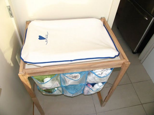 Ikea Folding Changing Table Review ~ IKEA Hackers Folding & Hanging Changing Table for small spaces