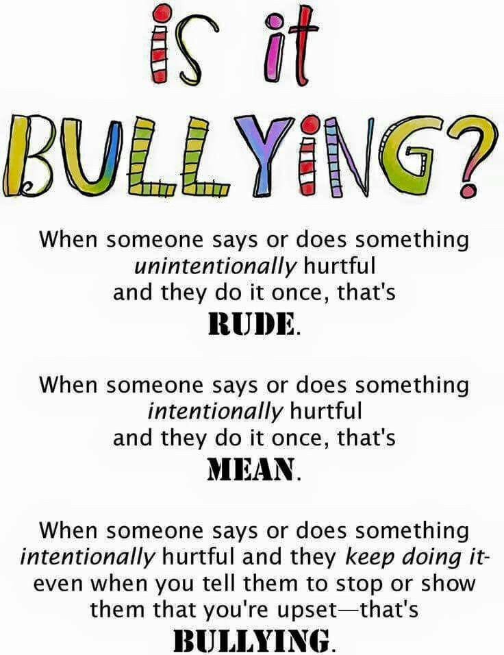 Rude vs. Mean vs. Bullying
