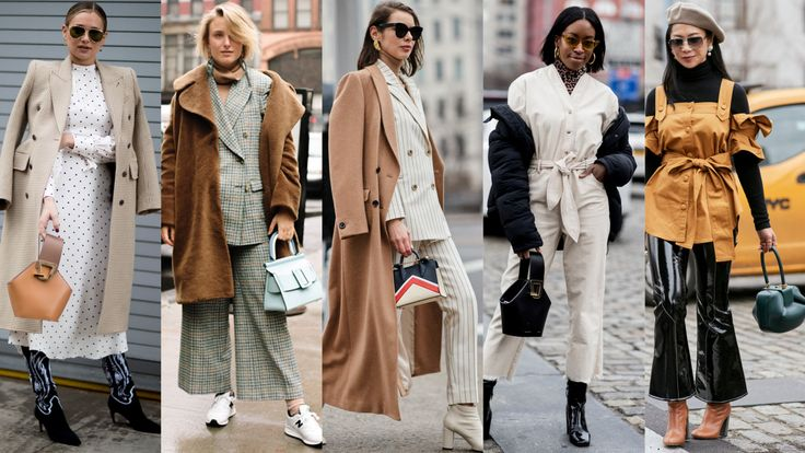 """The street style crowd showed off this particular """"It"""" purse in different shapes and colors."""