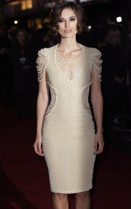 Keira Knightly pearl dress
