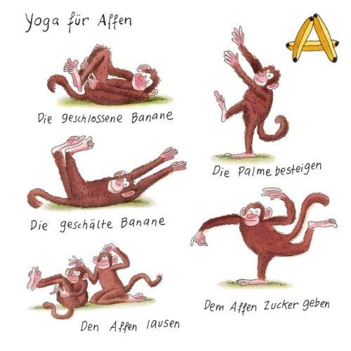 yoga für tiere - Affen