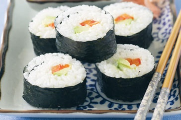 Easy and tasty, these California rolls are also a FODMAP friendly recipe for a Low FODMAP diet.