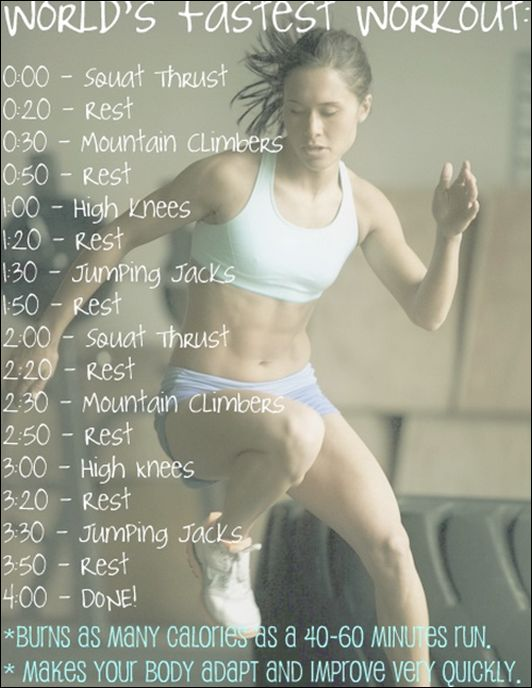 World's Fastest Workout: Fast Workout, Fitness, Minute Workout, Workouts, Work Outs, Exercise, Fastest Workout, Quick Workout