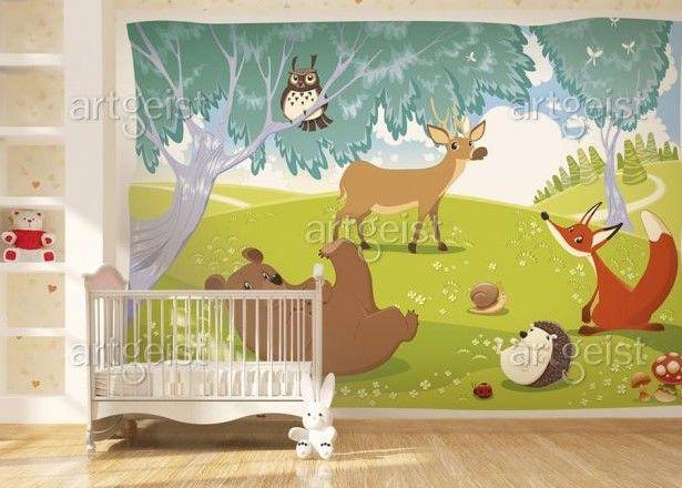 Cherchez-vous une inspiration pour décorer la chambre de votre enfant ? Misez sur un papier peint avec des animaux joyaux # papierspeints #papierpeint #chambreenfant #artgeist #décomurale #pourenfants #décoration