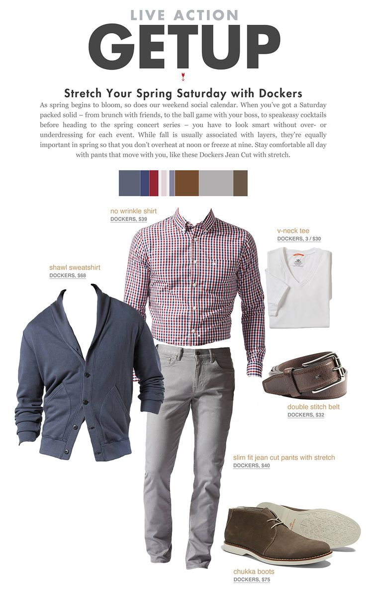 Stretch Your Spring Saturday with Dockers + 4 Easy Looks That'll Take You Anywhere | Primer