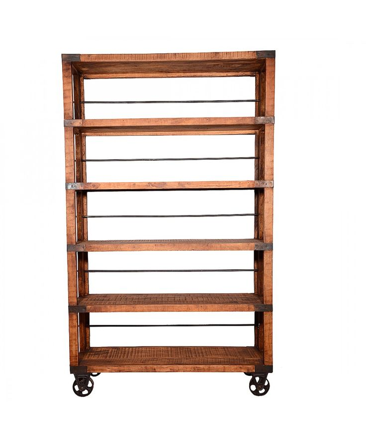 Ironwood - Book Shelf With Bars | Home Office Furniture - Easterly