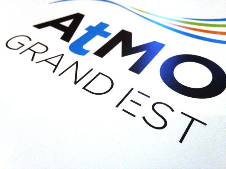 """Logo et Charte graphique pour la nouvelle entité """"grand région"""" GRAND EST de ATMO. Surveillance de la qualité de l'Air."""