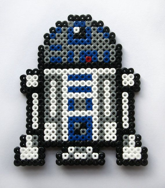 R2D2 made from Midi Hama Beads