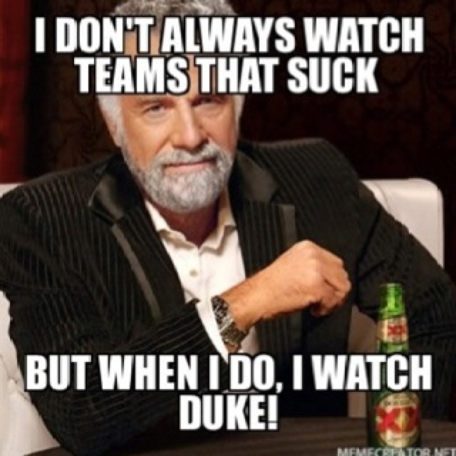Duke this is why you suck
