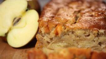Æblekage med kartoffel