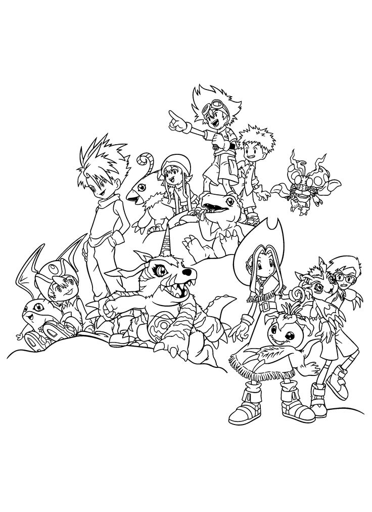 Digimon Coloring Pages 265 2400x3300