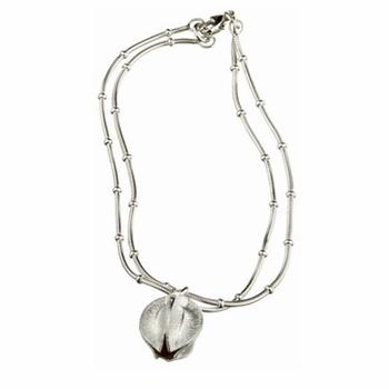 Kalevala Snowflower Silver Bracelet - Medium - Kalevala Snowflower Bracelets #pintofinn