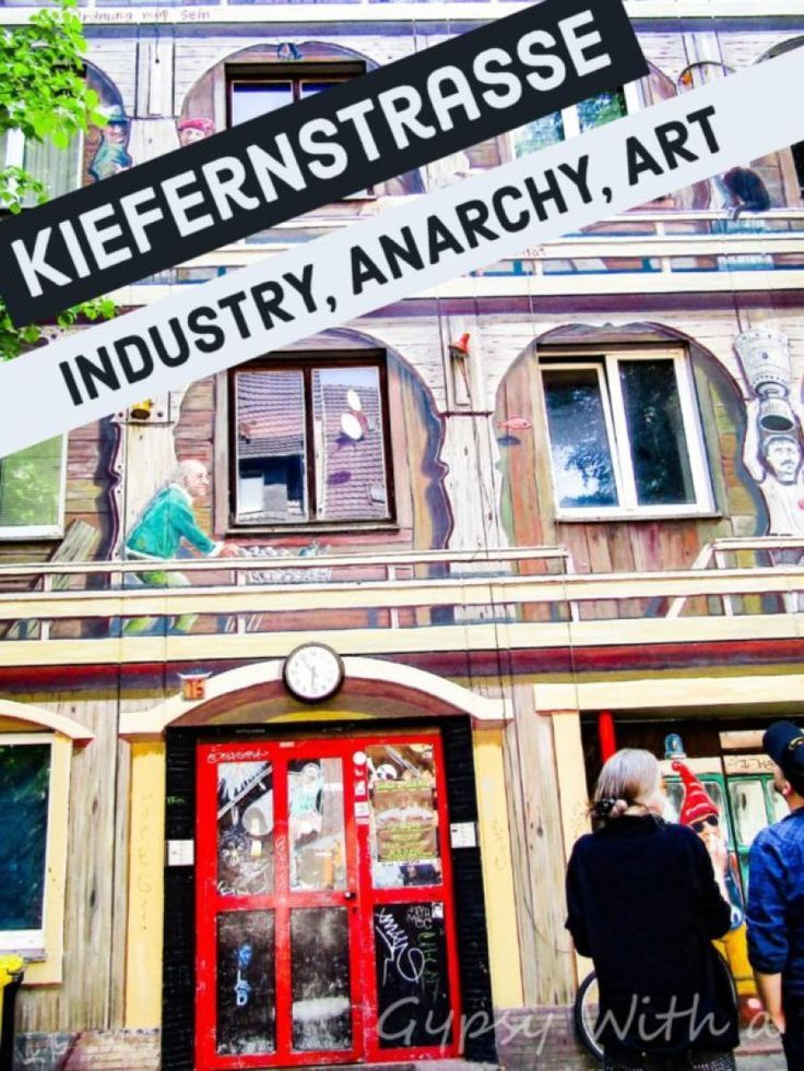 Kiefernstrasse- Industry, Anarchy, Art.  Intriguing history of Kiefernstrasse, in Dusseldorf, Germany, filled with steelworkers, refugees, squatters, members of the Red Army Faction,, punk rockers, and artists.