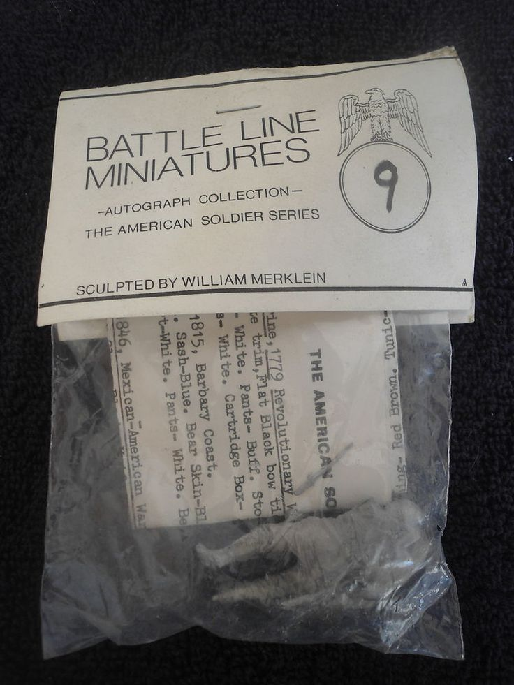 Battle Line #9 60mm Infantryman US Soldier 369th Reg White Metal Military Figure #BattleLineMinatures