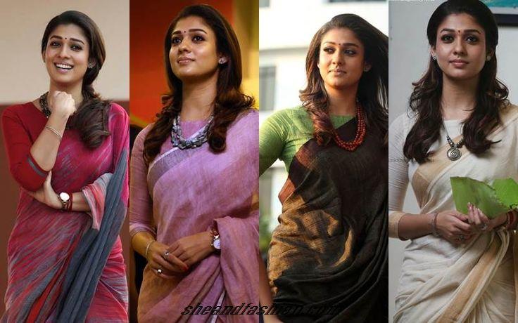Nayanthara in three fourth blouse
