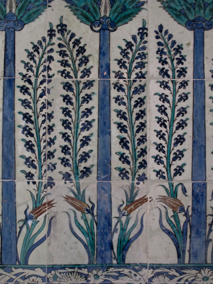 #Iznik #Tiles from the #Topkapi Palace, #Istanbul, #Turkey