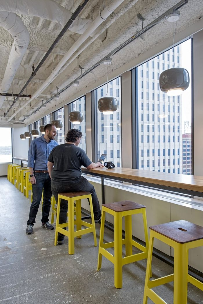 25 best ideas about industrial office design on pinterest for Office design yellow