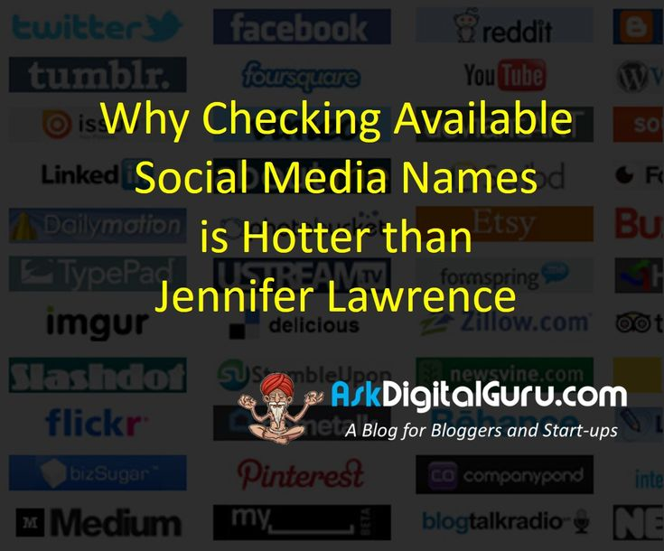 Before you finalize the business name, you should check available social media names matching your domain name.here some quick tools to check